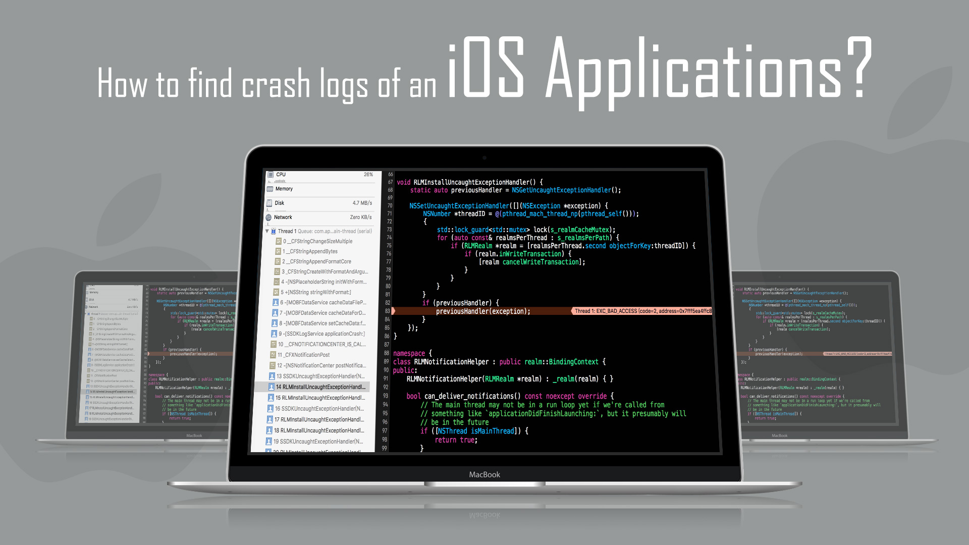How To Find Crash Logs Of An iOS Application? - Loginworks Softwares ...