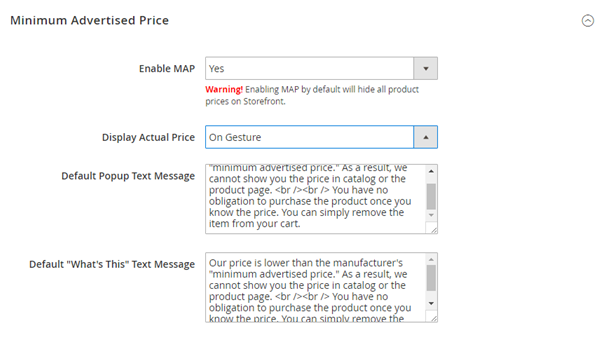 HOW TO CONFIGURE MINIMUM ADVERTISED PRICE IN MAGENTO Blog - Map minimum advertised price