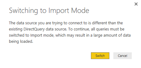 Multiple Data Sources is Not Supported