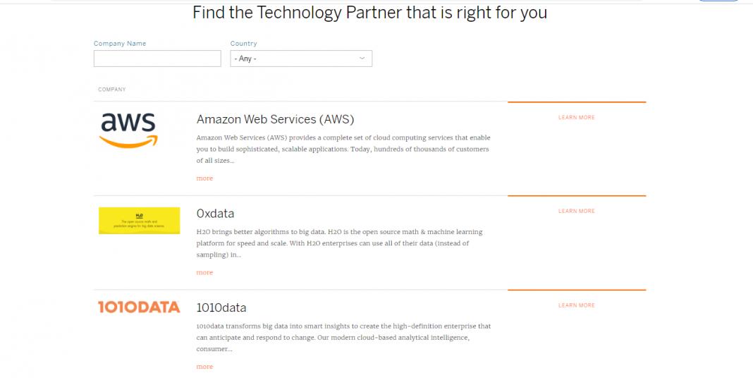 screenshot of tableau data sources