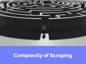 web scraping complexity
