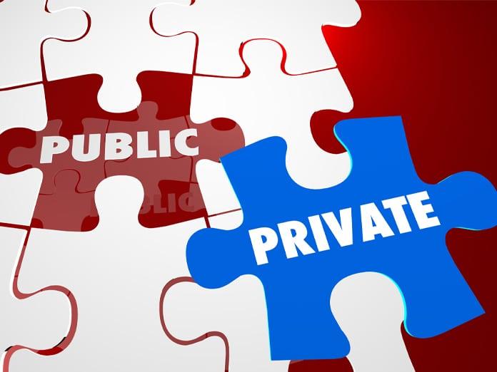 Private Vs Public Secret Confidential Information Data Puzzle Words 3d Illustration