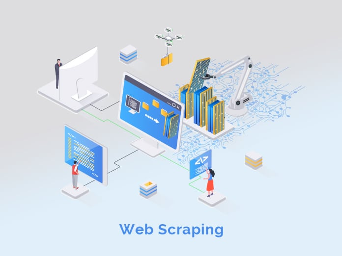 Process of automatic collecting and parsing raw data from web.
