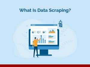 business people doing data scraping for data analytics and monitoring